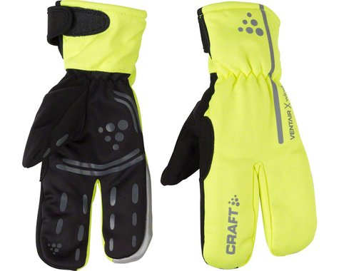 Craft Siberian Split Finger Gloves - Hi-Vis Yellow, Full Finger, Small