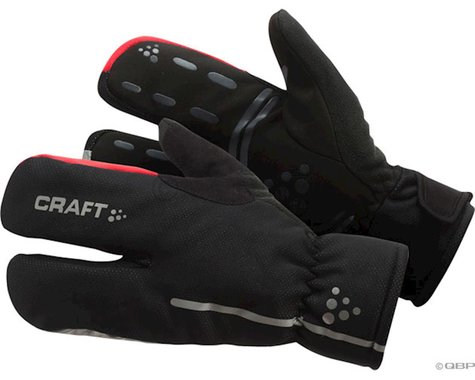 Craft Bike Thermal Split Finger Gloves (Black) (Xlarge)