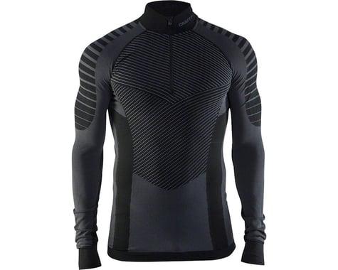 Craft Active Intensity Zip Neck Long Sleeve Top - Black/Asphalt, Men's, Small