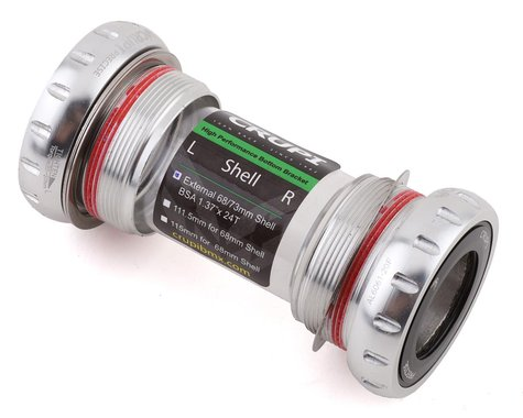 Crupi Precise External Euro Bottom Bracket (Silver) (24mm)
