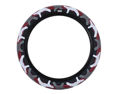 "Cult Vans Tire (Red Camo/Black) (Wire) (20"") (2.4"")"