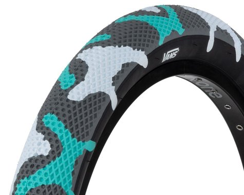 Cult Vans Tire (Teal Camo/Black) (20 x 2.40)