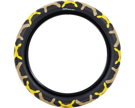 "Cult Vans Tire (Yellow Camo/Black) (Wire) (20"") (2.4"")"