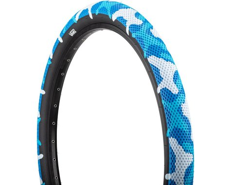 "Cult Vans Tire (Blue Camo/Black) (Wire) (14"") (2.2"")"