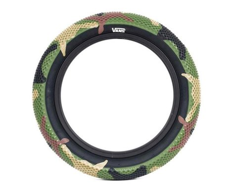 "Cult Vans Tire (Green Camo/Black) (Wire) (18"") (2.3"")"
