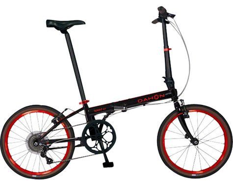 "Dahon Speed D7 Street Folding Bike - 20"", Steel, Obsidian Matte"
