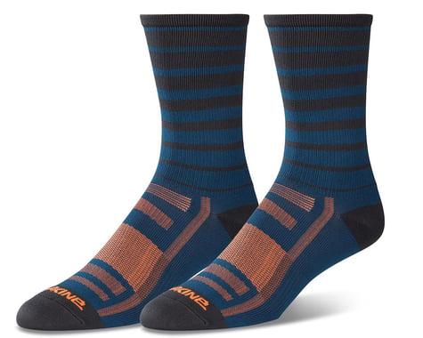 Dakine Singletrack Cycling Socks (Slate Blue Stripe)