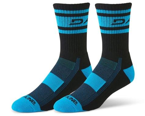 Dakine Step Up Cycling Socks (Black/Cyan) (M/L)