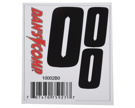 "Dan's Comp BMX Numbers (Black) (2"" x 2, 3"" x 1) (0)"