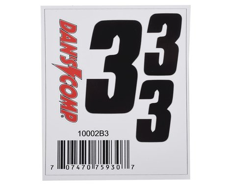 "Dan's Comp BMX Numbers (Black) (2"" x 2, 3"" x 1) (3)"