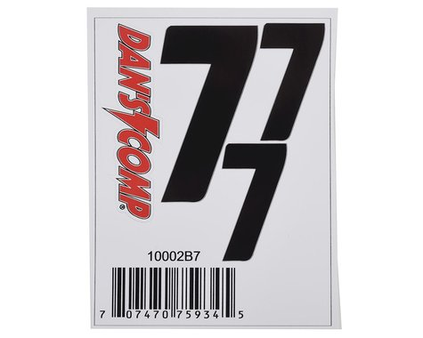 "Dan's Comp BMX Numbers (Black) (2"" x 2, 3"" x 1) (7)"