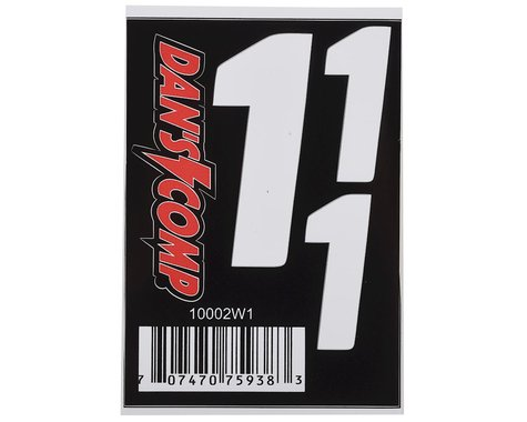 "Dan's Comp BMX Numbers (White) (2"" x 2, 3"" x 1) (1)"