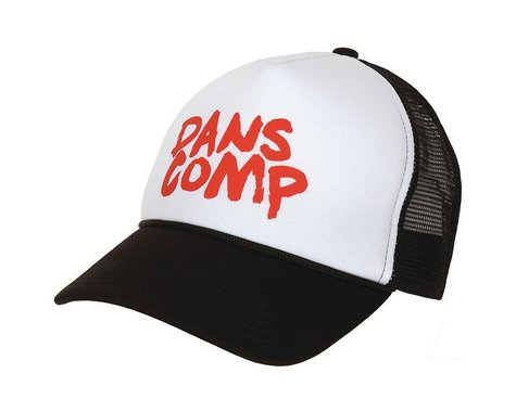 Dan's Comp Dans Comp Long Haul Trucker Hat (Black/White/Red) (One Size Fits Most)