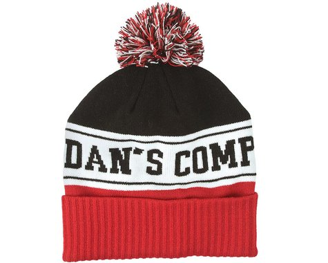Dan's Comp Ra Ra Pom Beanie (Black/White/Red) (One Size Fits Most)