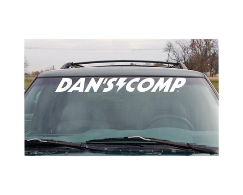 Dan's Comp Dans Comp Windshield Decal (White)