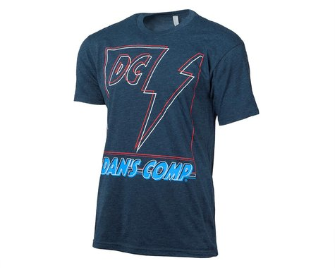 Dan's Comp Lightning Bolt Short Sleeve T-Shirt (Navy) (M)