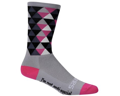 "DeFeet Aireator HiTop Sako 7"" Socks (Black/Grey)"