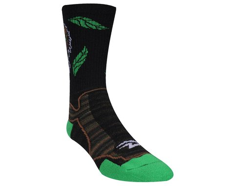 "DeFeet Levitator Trail Bigfoot Socks - 6"" Cuff (Green/Black)"