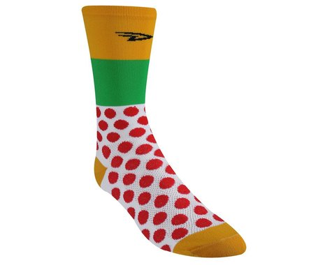 "DeFeet Aireator Maillots Du Tour 6"" Socks (Red/Yellow/Green)"
