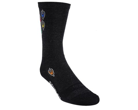 "DeFeet Wooleator Echelon 6"" Socks (Black/Multi)"