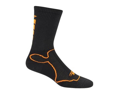 """DeFeet Levitator Trail 6"""" Socks (Black/Hi-Vis Orange)"""