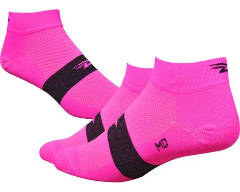 "DeFeet Aireator 4"" Spotty Sock (Hi-Vis Pink)"