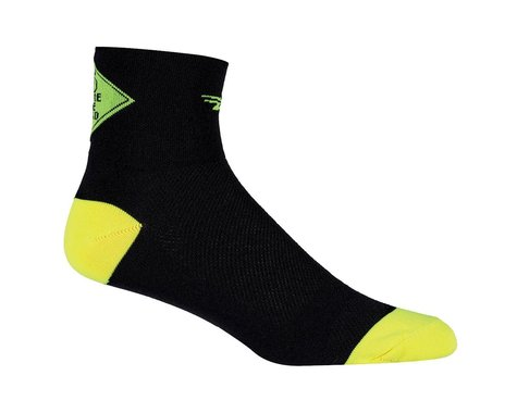 DeFeet Share the Road AirEator Socks (Black/Neon Green)