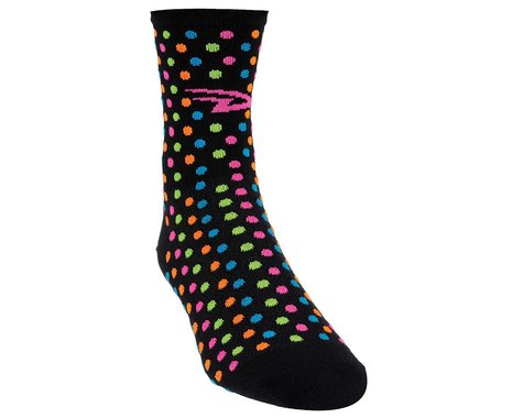 "DeFeet Aireator 4"" Spotty Sock (Black) (L)"
