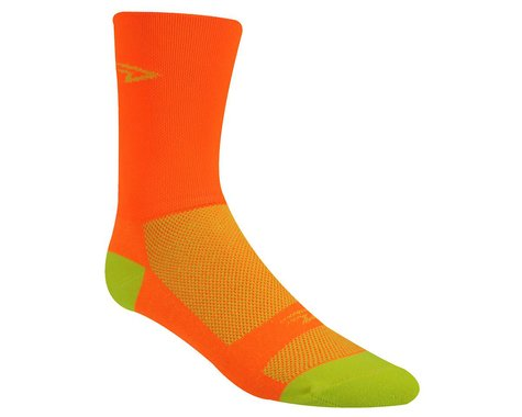 DeFeet Aireator Hi Top Socks (Orange/Yellow) (S)