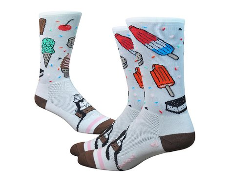 "DeFeet Aireator 6"" iSCREAM (White/Brown/Pink) (L)"