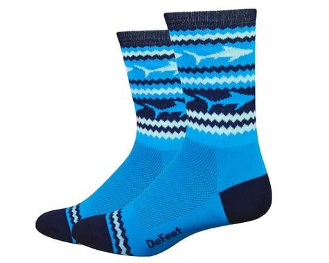 "DeFeet Aireator 6"" Socks (Blue/White) (L)"