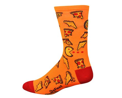 """DeFeet  Aireator 6"""" , Socks, Pizza Party, L"""