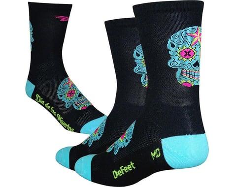"DeFeet Aireator 5"" Sugar Skull Socks (Black/Neptune)"