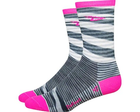 DeFeet Aireator 5-inch D-Logo Socks (White/Carbon) (Large)