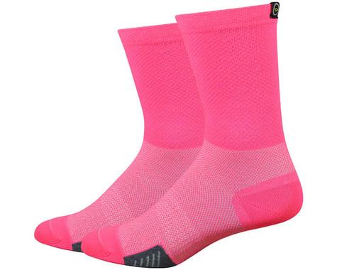 """DeFeet Cyclismo 5"""" Sock (Flamingo Pink) (L)"""