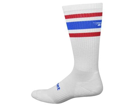 DeFeet D-Evo White/Red/Blue Crew Socks (White Blue Red)