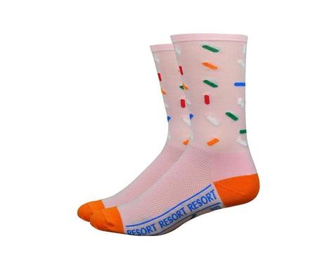 """DeFeet Tenspeed Hero 6"""" Pink Sprinkles Socks (Pink)"""