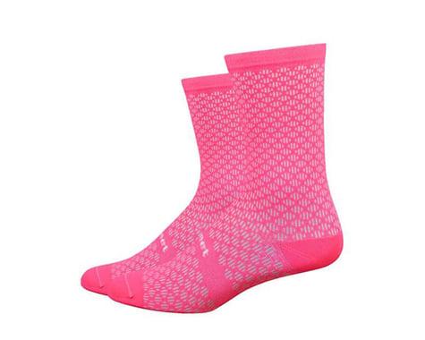 DeFeet Evo Mount Ventoux Socks (Flamingo Pink) (L)