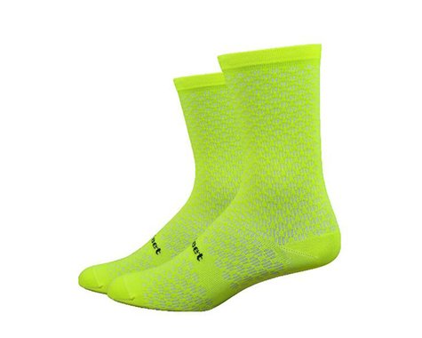 DeFeet Evo Mount Ventoux Socks (Hi-Vis Yellow) (L)