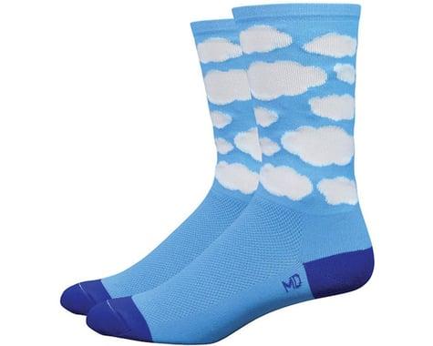 """DeFeet DeFeet, Aireator 6"""", Socks, Tenspeed Hero Montana Blue Cloud, M"""