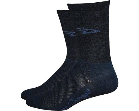 "DeFeet Wooleator 5"" D-Logo Sock (Charcoal Gray) (S)"