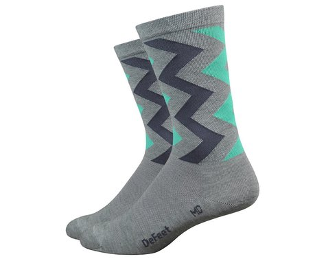 DeFeet Wooleator Karidescope Socks (Grey) (L)