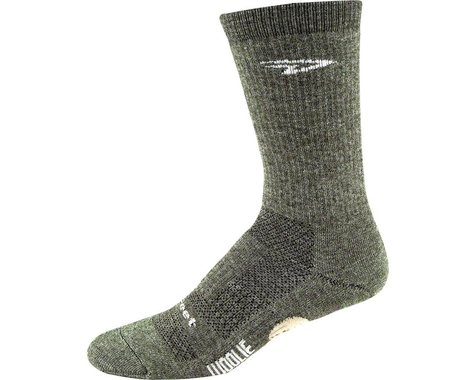 "DeFeet Woolie Boolie 6"" Comp Sock (Loden Green) (L)"