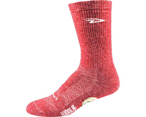 "DeFeet Woolie Boolie 6"" Comp Sock (Red Heather) (L)"