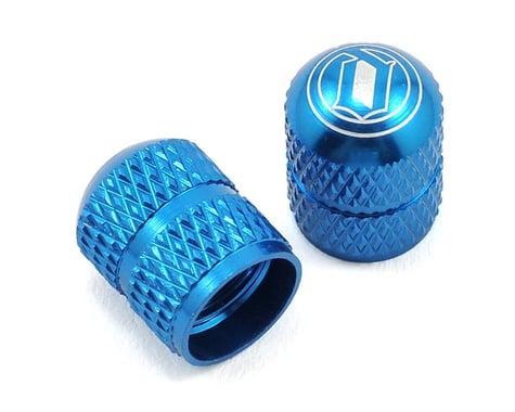 Deity Crown Schrader Valve Caps (Blue)