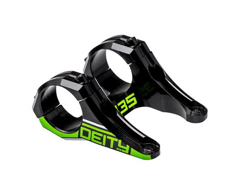 Deity Intake Direct Mount Stem (Green) (35mm Clamp) (50mm) (0°)