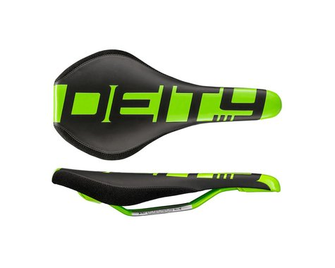 Deity Speedtrap Mountain Bike Saddle (Green) (Chromoly Rails) (140mm)
