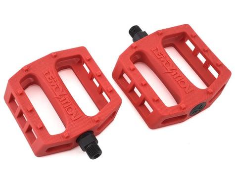 "Demolition Trooper Plastic Pedals (Red Hot Chili) (Pair) (9/16"")"