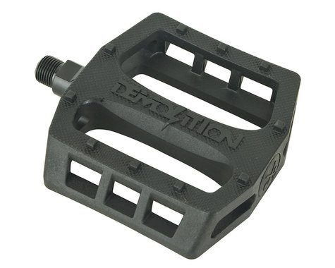 """Demolition Trooper Plastic Pedals (Black) (Pair) (9/16"""")"""