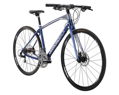 Diamondback Interval Carbon Flat Bar Road Bike - 2016 (Blue)